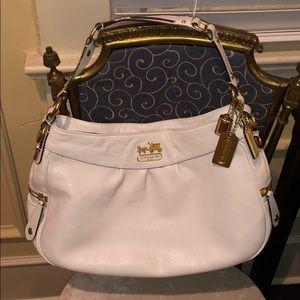 COACH 13250 Madison White Leather Hobo